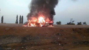 Over 36 People Roasted to Death As Passenger Buses Collide On Lagos-Ibadan Expressway {Gragphic Photos}